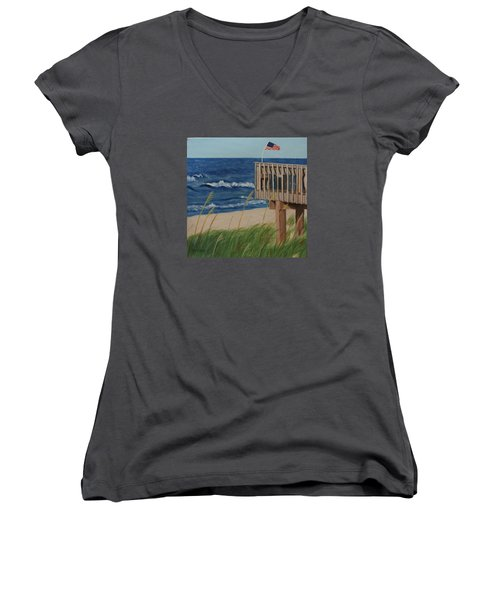 Colors On The Breeze Women's V-Neck