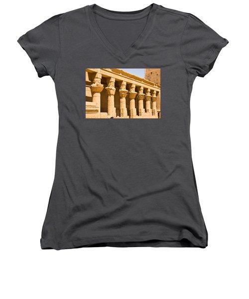 Column Art Women's V-Neck (Athletic Fit)