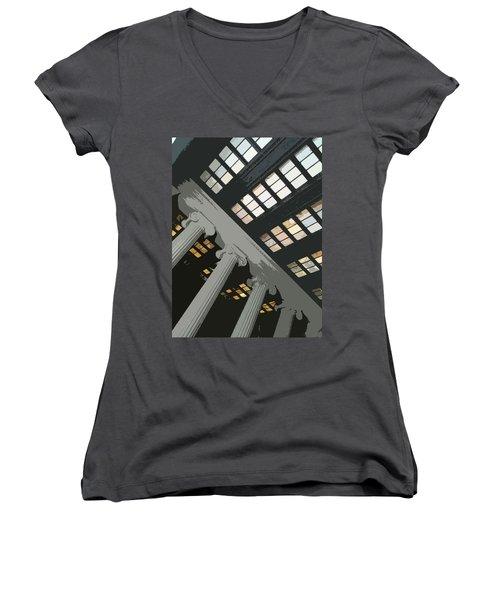Columns Women's V-Neck T-Shirt