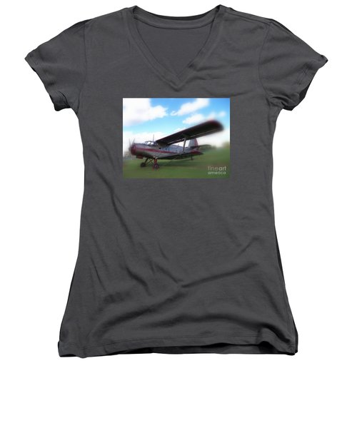 Come Fly With Me Women's V-Neck (Athletic Fit)