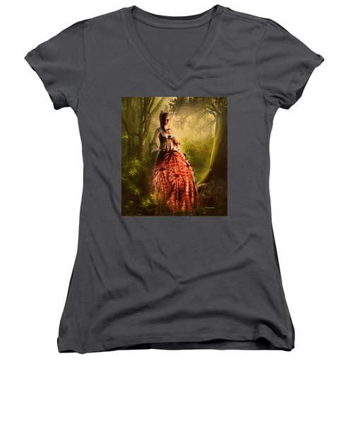Come To Me In The Moonlight Women's V-Neck