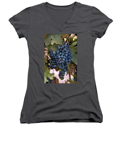 Concord Grapes Women's V-Neck (Athletic Fit)