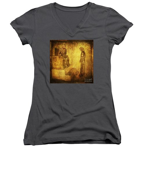 Condemned Via Dolorosa1 Women's V-Neck (Athletic Fit)