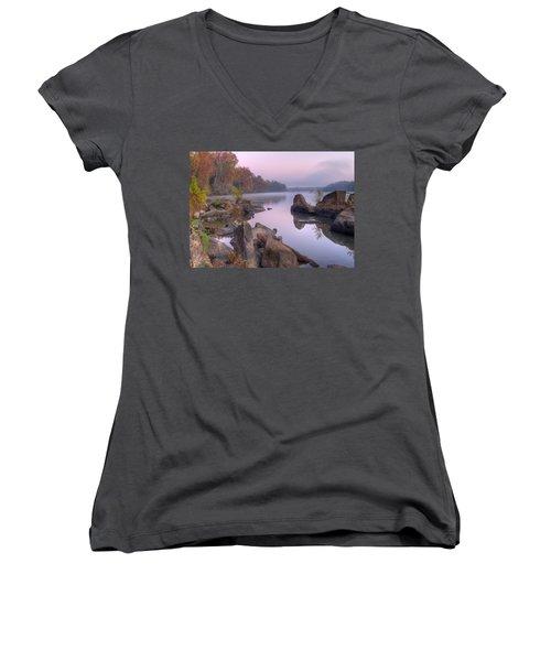 Congaree River At Dawn-1 Women's V-Neck