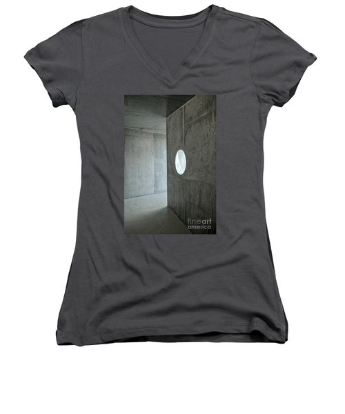 Contemporary Architecture Detail Women's V-Neck (Athletic Fit)