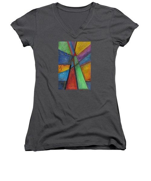 Convergence Women's V-Neck T-Shirt (Junior Cut) by Nicole Nadeau