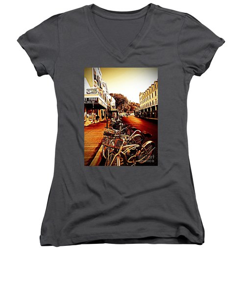 Copper And Rust Women's V-Neck T-Shirt