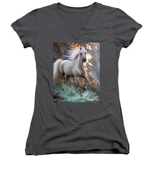 Copper Sundancer - Horse Women's V-Neck T-Shirt