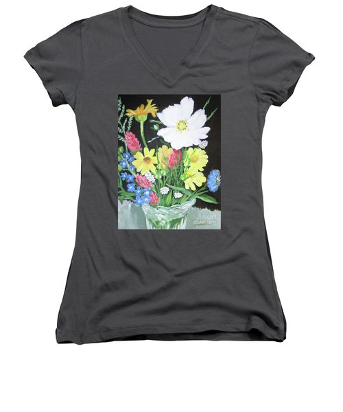 Cosmos And Her Wild Friends Women's V-Neck T-Shirt (Junior Cut)