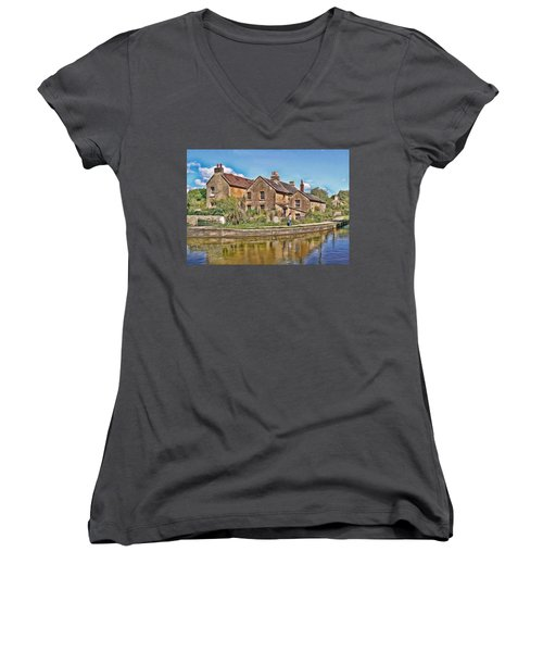Cottages At Avoncliff Women's V-Neck (Athletic Fit)