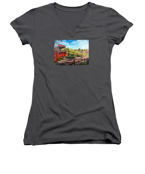 Country Life Women's V-Neck T-Shirt (Junior Cut) by Lee Piper