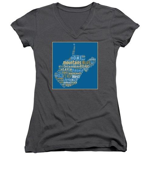 Country Roads 3 Women's V-Neck T-Shirt