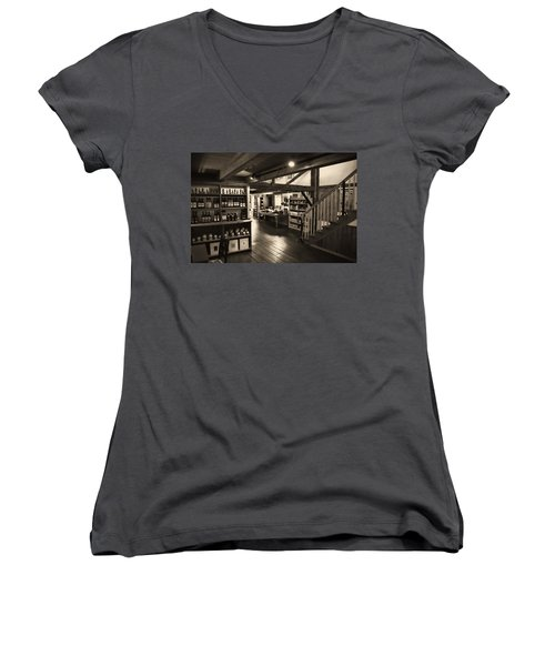 Country Store Women's V-Neck T-Shirt (Junior Cut) by Bill Howard