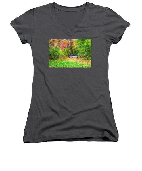 Cozy Little Nook Women's V-Neck T-Shirt