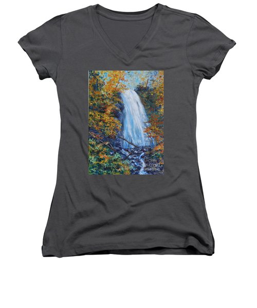 Crab Apple Falls Women's V-Neck T-Shirt