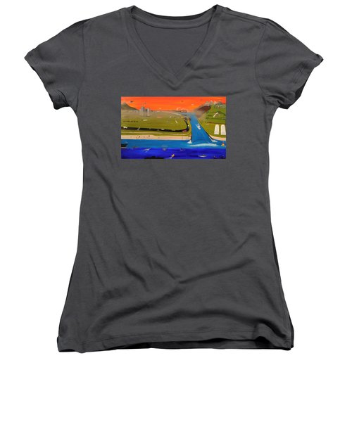 Creation And Evolution - Painting 2 Of 2 Women's V-Neck (Athletic Fit)