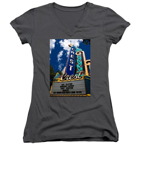 Crest Theater Women's V-Neck (Athletic Fit)