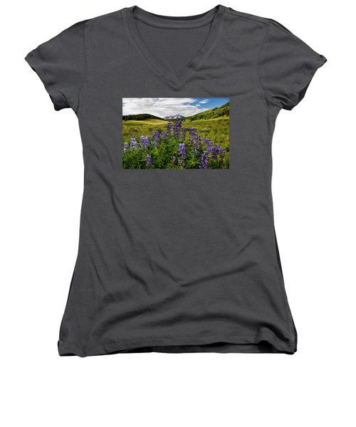 Crested Butte Lupines Women's V-Neck