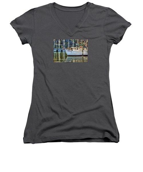 Crimson Tide In The Sunshine Women's V-Neck T-Shirt (Junior Cut) by Michael Thomas