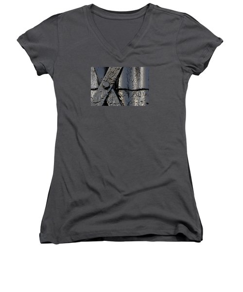 Cross Over Women's V-Neck T-Shirt (Junior Cut) by Wendy Wilton