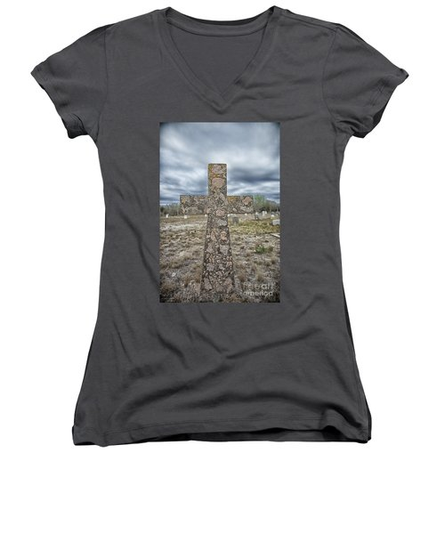Cross With No Name Women's V-Neck (Athletic Fit)