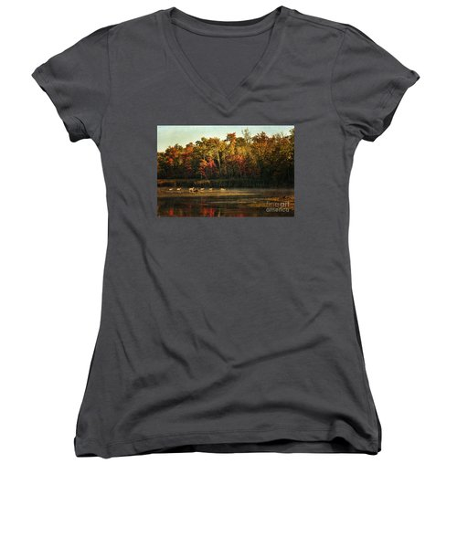 Crossing The Lake Women's V-Neck (Athletic Fit)