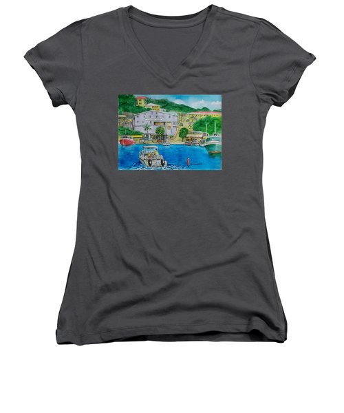 Cruz Bay St. Johns Virgin Islands Women's V-Neck