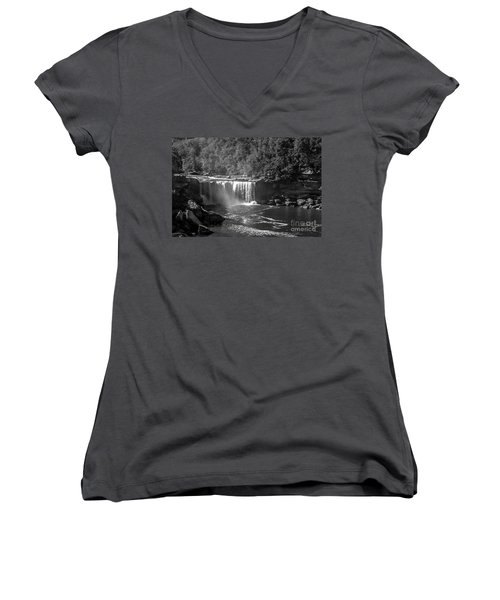 Cumberland Falls Five Bw Women's V-Neck (Athletic Fit)