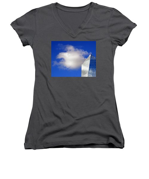 Women's V-Neck T-Shirt (Junior Cut) featuring the photograph Cumulus And Cira by Lisa Phillips