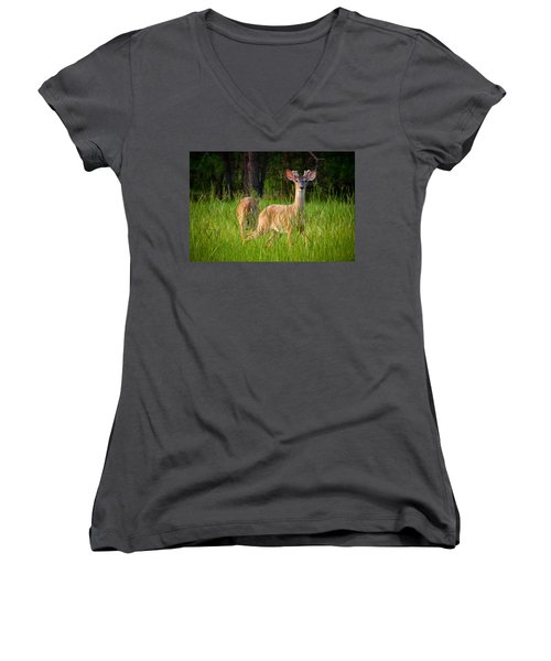 Curious Women's V-Neck T-Shirt