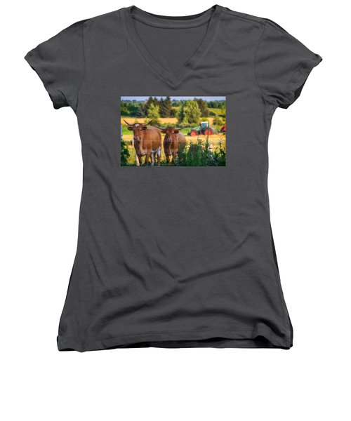 Curiousity Women's V-Neck