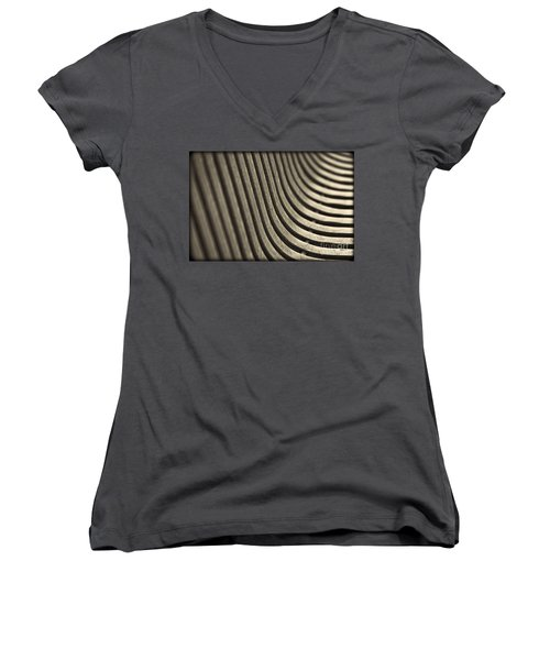Women's V-Neck T-Shirt (Junior Cut) featuring the photograph Curves I. by Clare Bambers