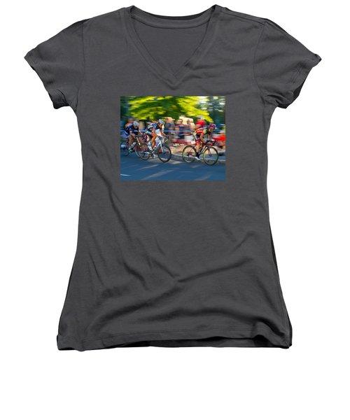 Cycling Pursuit Women's V-Neck T-Shirt