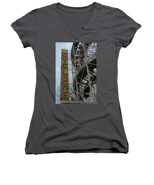 Cyclone - Roller Coaster Women's V-Neck T-Shirt