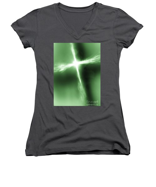 Women's V-Neck T-Shirt (Junior Cut) featuring the photograph Daily Inspiration Ll by Robin Coaker