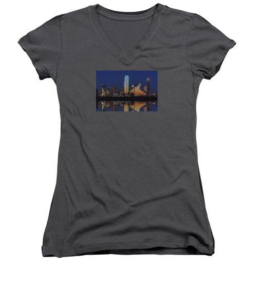Dallas Aglow Women's V-Neck T-Shirt