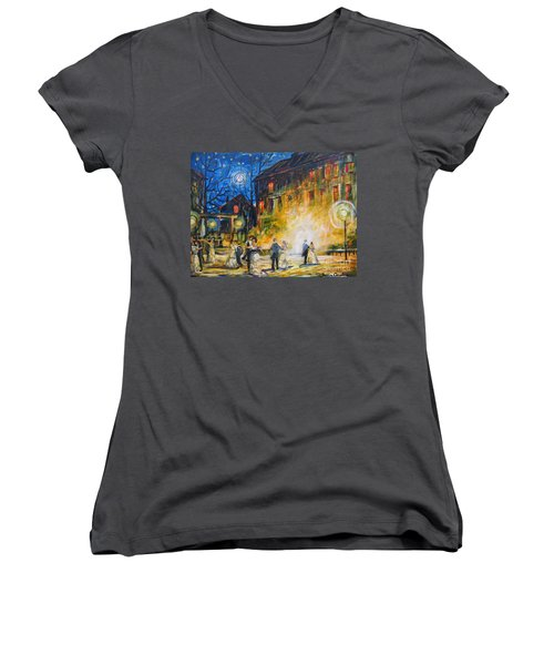 Dance The Night Away Women's V-Neck (Athletic Fit)