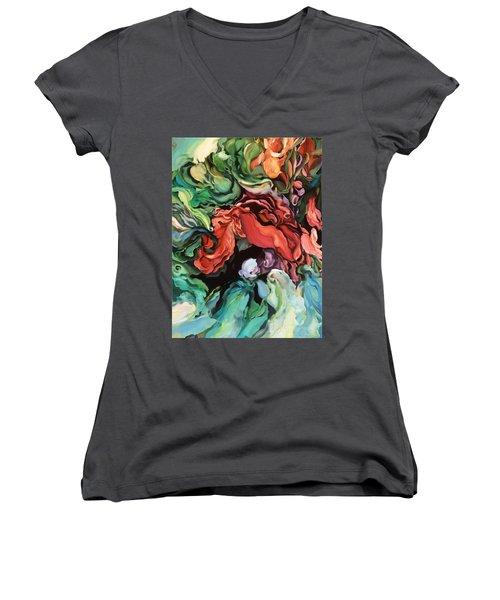 Dancing For Joy Women's V-Neck T-Shirt (Junior Cut) by Brooks Garten Hauschild