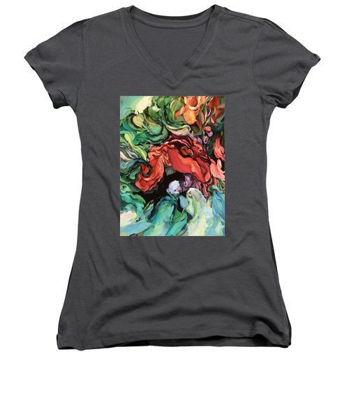Dancing For Joy - Original Artwork - Paintings Women's V-Neck (Athletic Fit)