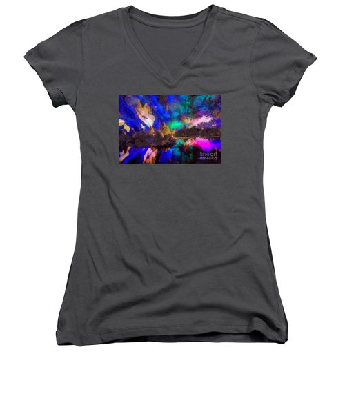 Dancing In The Moon Light Women's V-Neck