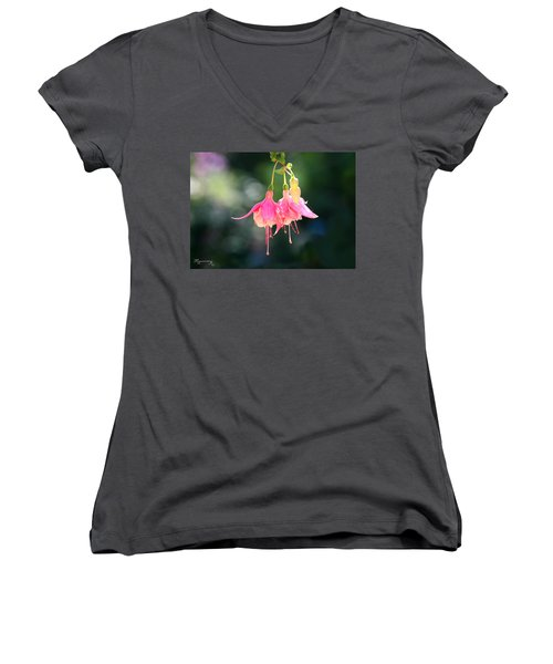 Dancing In The Wind Women's V-Neck T-Shirt