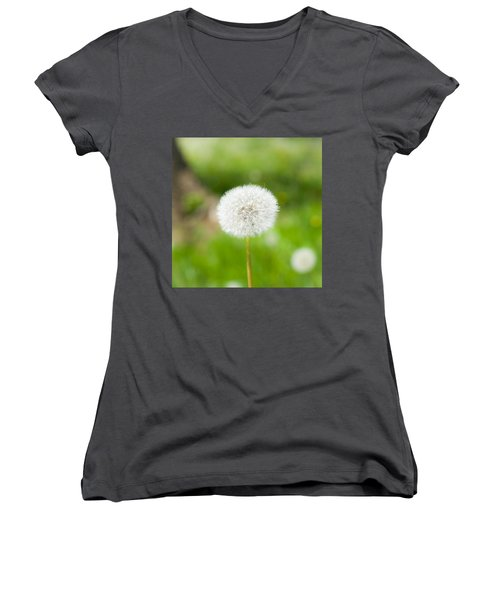Dandelion Puffball Women's V-Neck T-Shirt