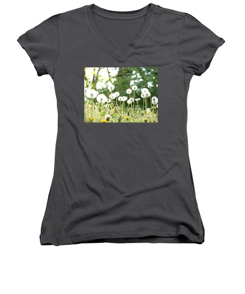 Dandelions Women's V-Neck (Athletic Fit)