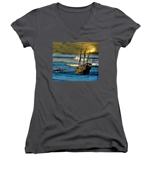 Dangerous Waters Women's V-Neck T-Shirt