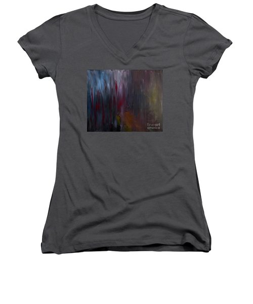 Dark Rain Women's V-Neck T-Shirt