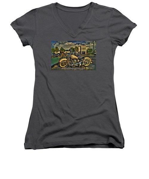 Darrell Keller Memorial Poker Run Women's V-Neck T-Shirt