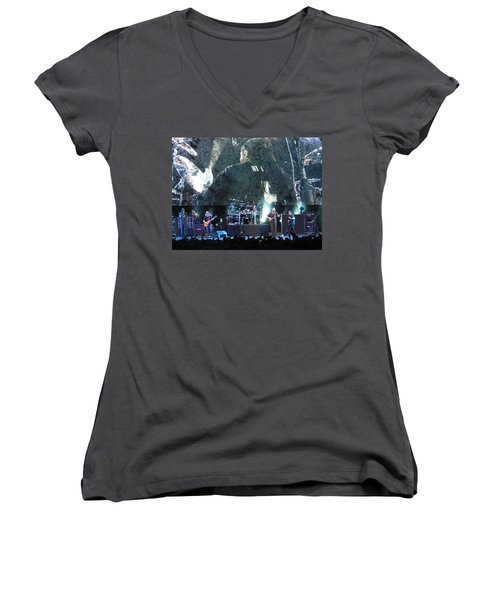 Dave Matthews Band Rocks Final Four Weekend Women's V-Neck T-Shirt (Junior Cut) by Aaron Martens