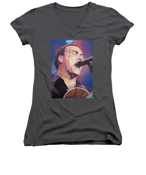 Dave Matthews Colorful Full Band Series Women's V-Neck (Athletic Fit)