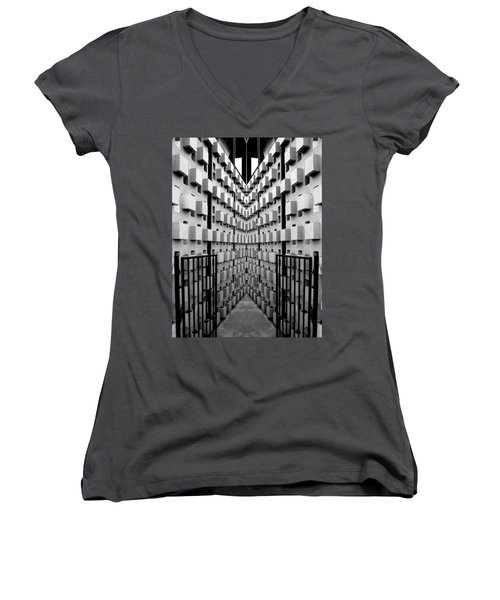 Dead End Women's V-Neck T-Shirt (Junior Cut) by Jeff Brunton