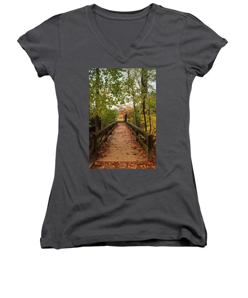 Decorate With Leaves - Holmdel Park Women's V-Neck (Athletic Fit)
